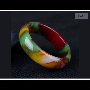 Jewelry - Beautiful Chinese natural color jade bangle